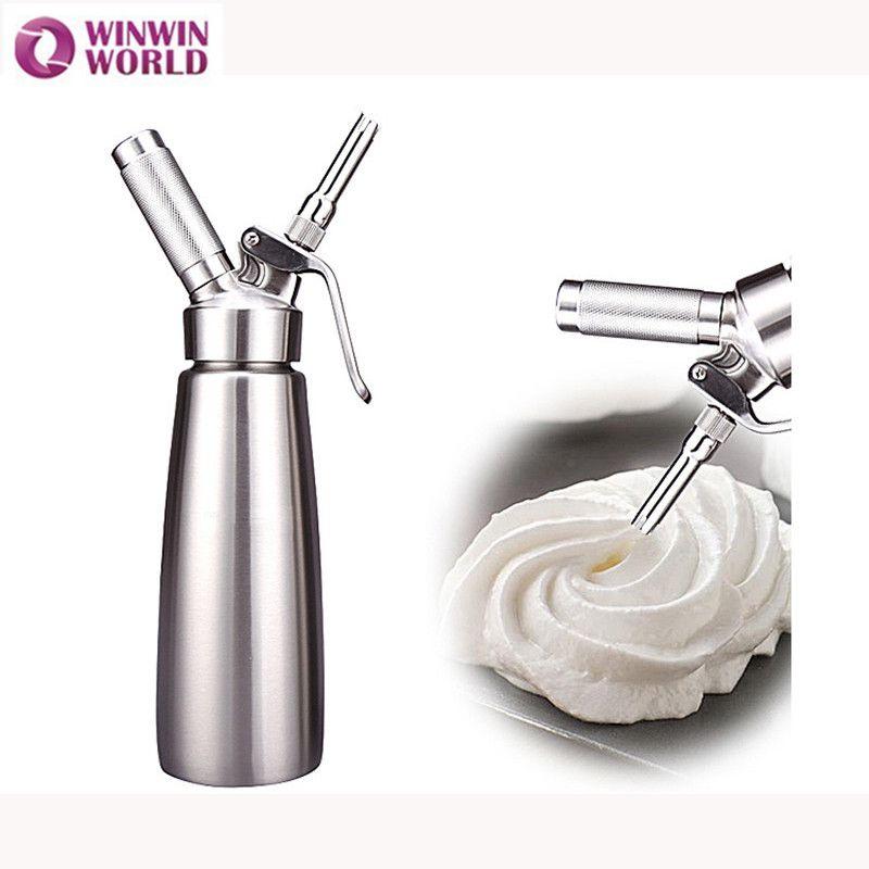 SIVAPHE 500ML Durable Stainless Steel N2O Cream Whipper Metal Whipped Cream Dispenser Siphon Dessert Tools Nitrus Kitchen Bottle