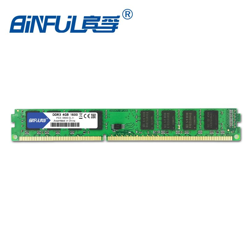 Binful original New Brand DDR3 PC3-12800 4GB 1600mhz for Desktop RAM Memory 1.5V Compatible with all motherboards