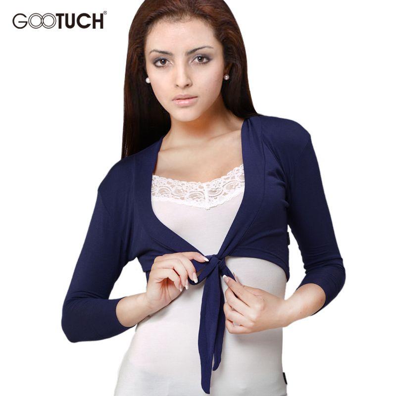 2017 Womens Three Quarters Sleeve Thin Coats Open Stitch  Women Cardigan Femme Cropped Top Ladies Short Shrugs K-320