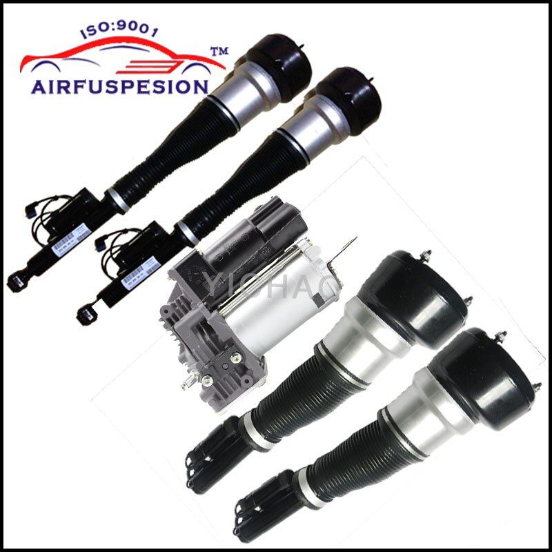 Free Shipping 4pcs Mercedes W221 Front Rear Suspension Shock Absorber Air Spring Air Ride 2213209313 2213205613 2213205513