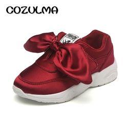 COZULMA Anak Sneakers Sepatu Gadis Mode Sepatu Musim Gugur Gaya Bernapas Anak Datar Olahraga Sepatu Lari Ukuran 26-36