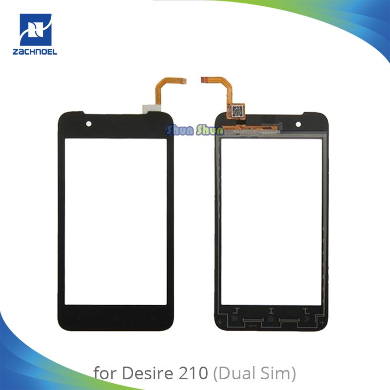 4.0'' 210 Touch Screen for HTC Desire 210 Dual SIM Touch Screen Digitizer Sensor Front Glass Lens Panel Black Replacement Parts