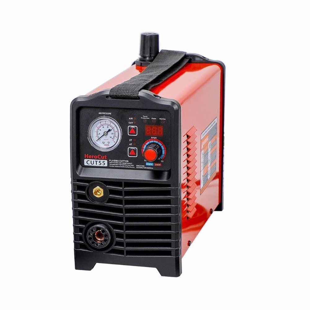 IGBT CNC Pilot Arc Non-HF DC Air Plasma Cutter Cut55 Dual Voltage 120V / 240V, Cutting machine Easy work with CNC table 20mm