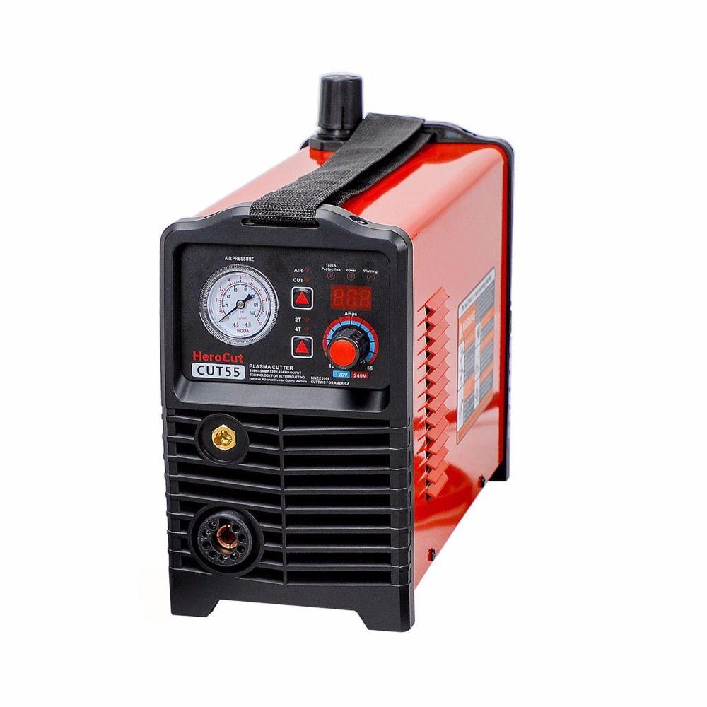 Plasma Cutter IGBT Digital Control CNC Pilot Arc Non-HF Cut55 Dual Voltage 120V/240V, Cutting machine Work with CNC table