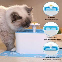 Mascotas perro gato automático fuente azul beber bebida dispensador de agua plato filtro soporte envío de la gota