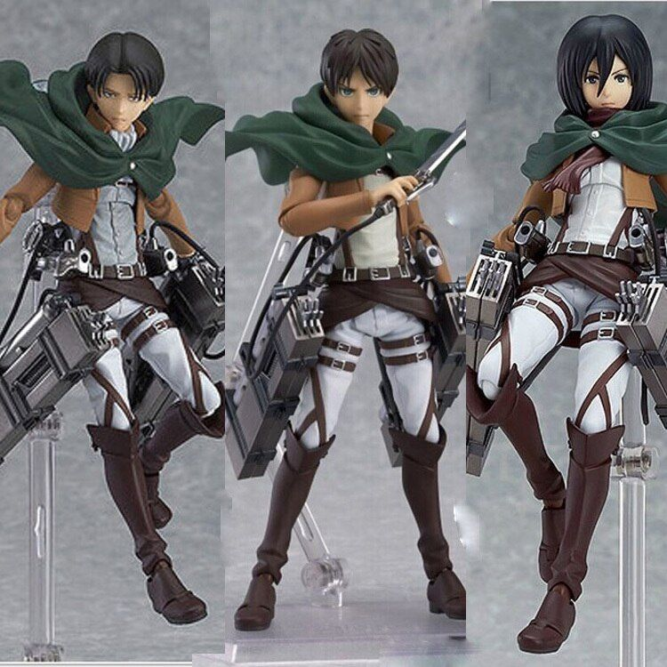 Anime angriff auf titan legion scouting shingeki kein kyojin levi Figma 213 PVC action Figure Mikasa Modell Sammlung Spielzeug Geschenk Eren