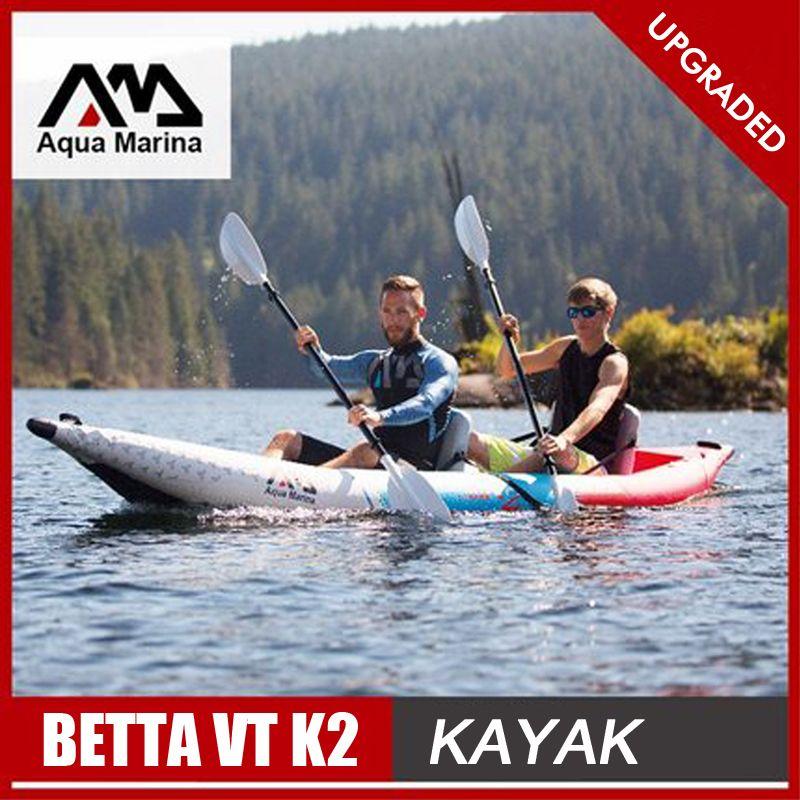 Aqua Marina BETTA VT K2 aufblasbare boot sport kajak kanu pvc beiboot raft pumpe sitz drop-stich boden laminiert professionelle