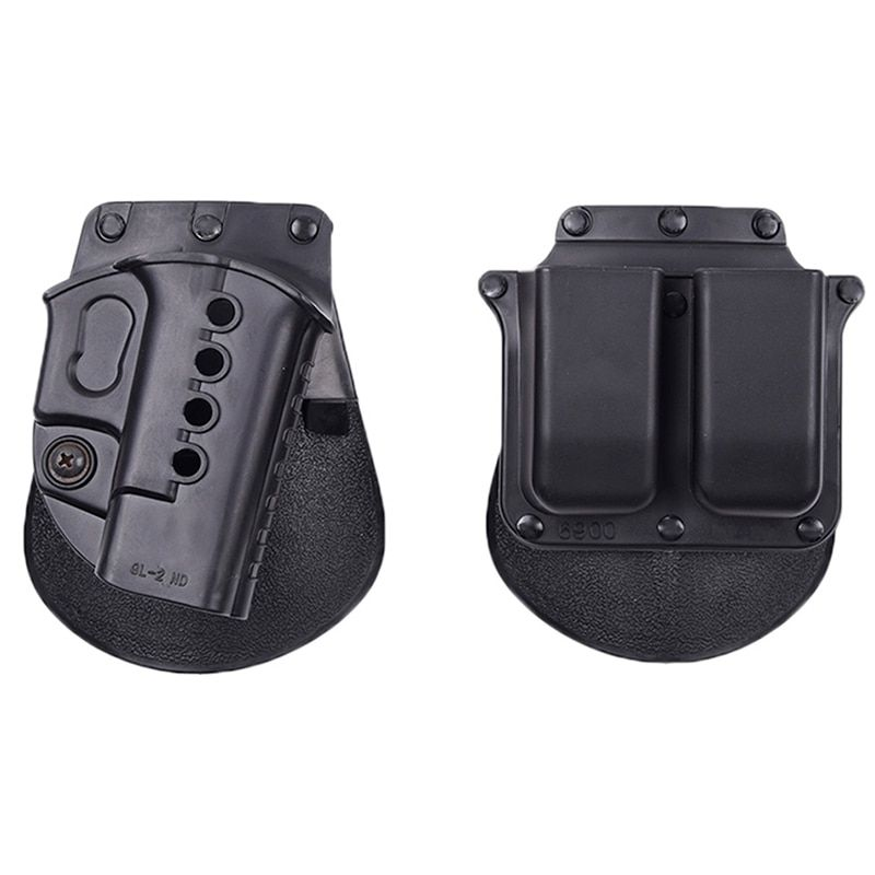 Tactical RH Paddle right hand Set GL2-ND +6900 Double Magazine Holster for Glock