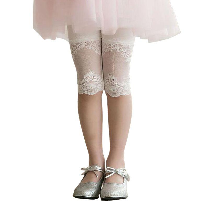 2-9 Ans Dentelle De Couleur de Sucrerie Bébé Fille leggings Fleurs Bébé Fille Pantalon Perneiras Coton Bonne Qualité Préscolaire Bébé fille Vêtements