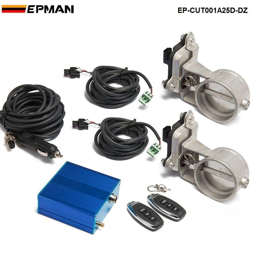 Exhaust Control Valve Dual Set w Remote Cutout Control  For 2.5