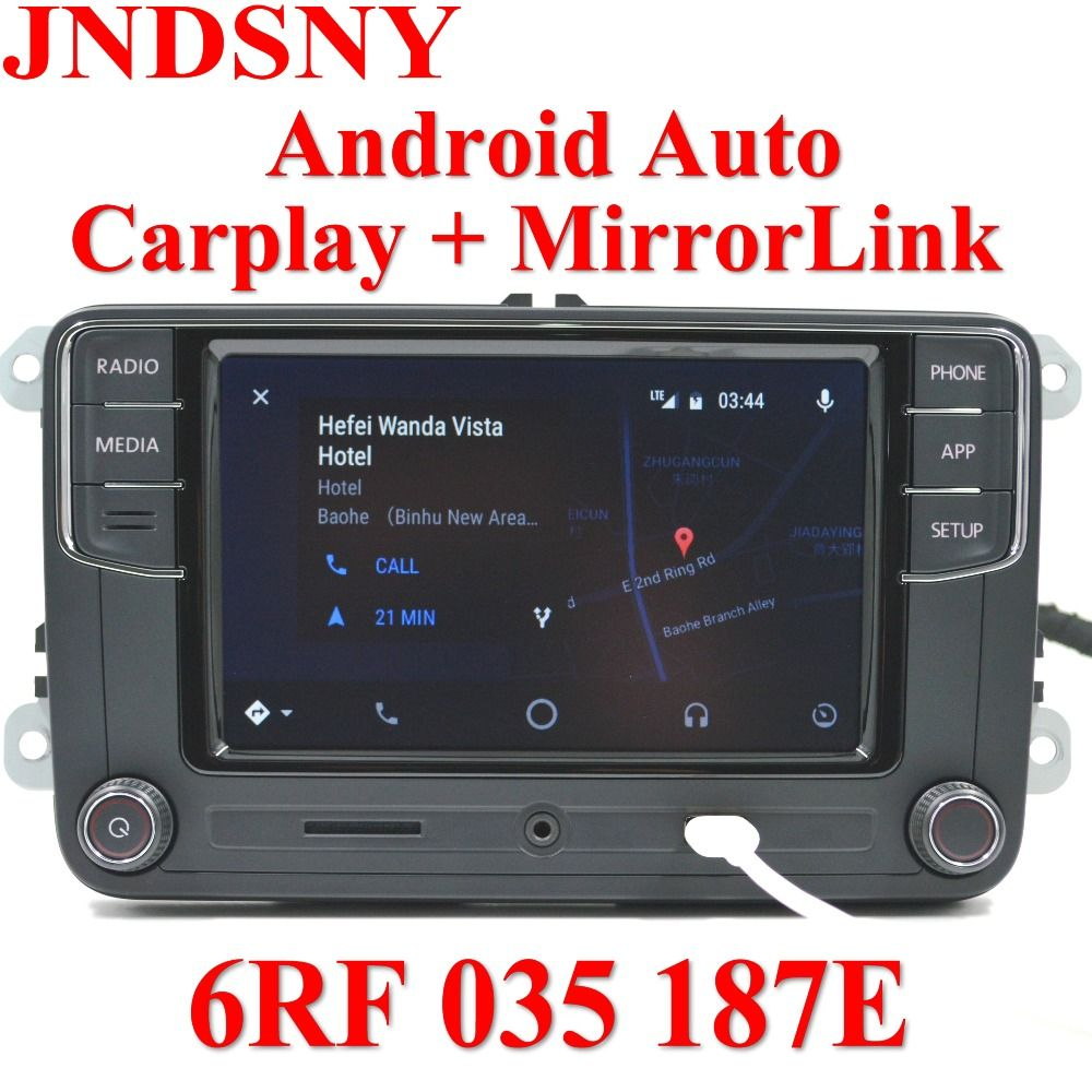 JNDSNY Android Auto CarPlay APP R340G RCD330 RCD330G Plus Car Radio For Golf 5 6 Jetta MK6 CC Tiguan Passat Polo 6RF 035 187E