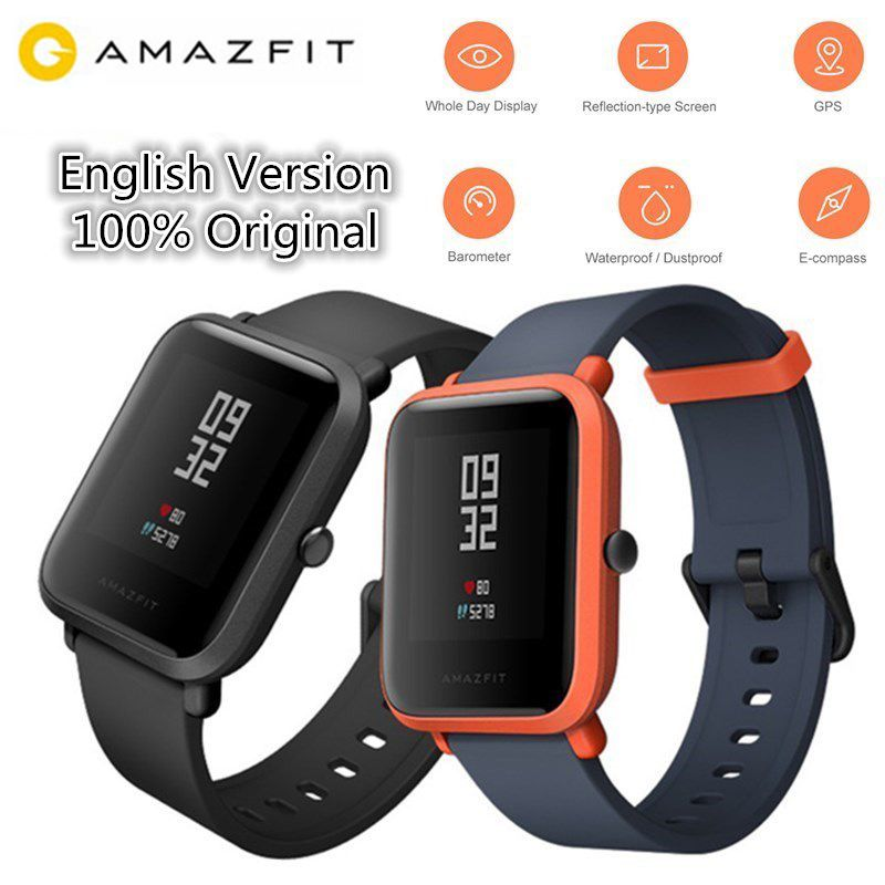 Huami AMAZFIT Bip/Bip Lite Smartwatch Bluetooth GPS montre intelligente moniteur de fréquence cardiaque sport Tracker IP68 Version internationale