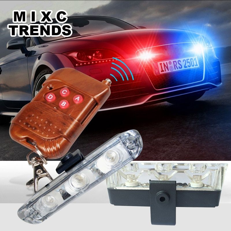 Best Waterproof DC 12V Wireless Remote 3LED Ambulance Police light controll flasher Car Strobe Warning Emergency External light
