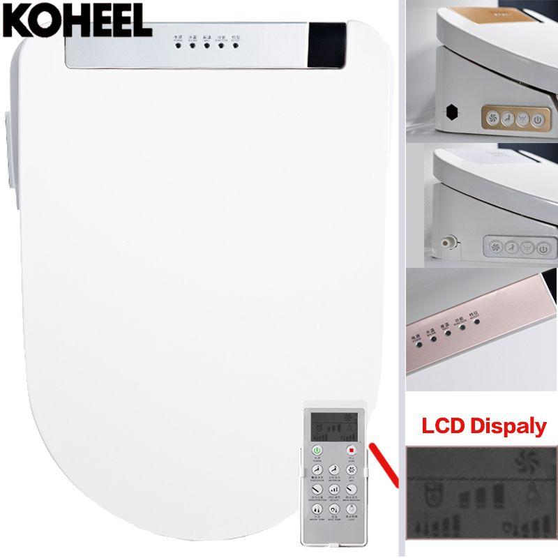 KOHEEL LCD 3 Color Intelligent Toilet Seat Washlet Elongated Electric Bidet Cover Smart Bidet Heating Sits Led Light Wc