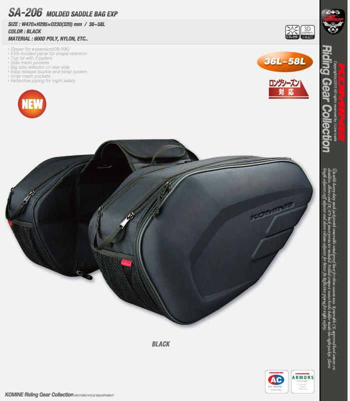 New Komine SA212 motorcycle tail bag saddle bag luggage suitcase around motorcycle waterproof cover bag Can put down helmet 1