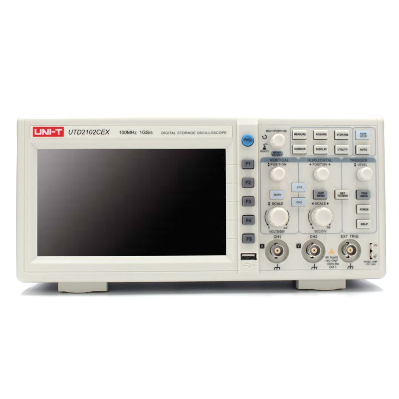 UNI-T UTD2102CEX Digital Oscilloscope 100MHz Bandwidth with USB OTG Interface 2 Channels Storage Portable Oscilloscope