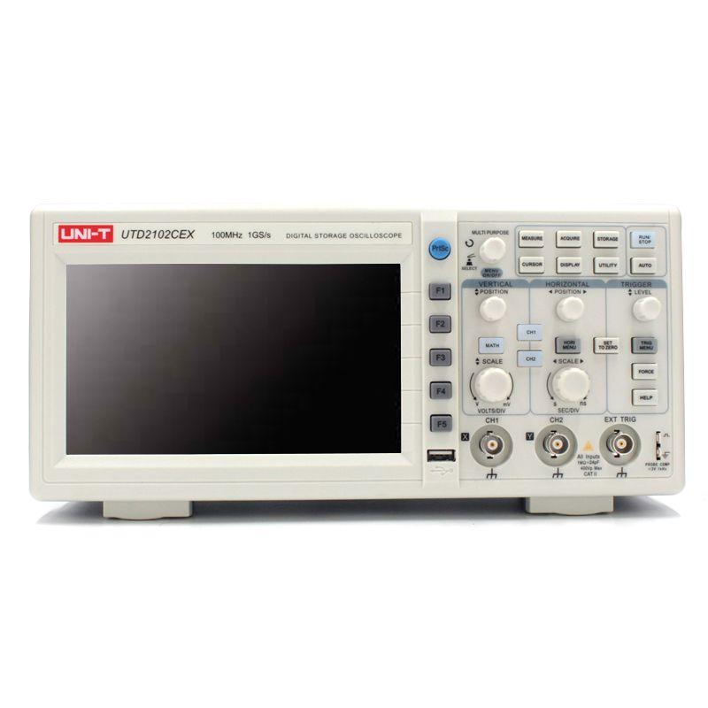 UNI-T UTD2102CEX Digital-oszilloskop 100 MHz Bandbreite mit USB OTG Schnittstelle 2 Kanäle Lagerung Tragbare Oszilloskop