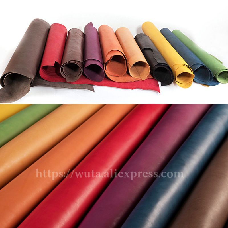WUTA New Batch Drum Dyed Veg-Tanned Cowhide Full Grain Leather Piece DIY Handmade Material Craft Tooling Carving Wet Moulding
