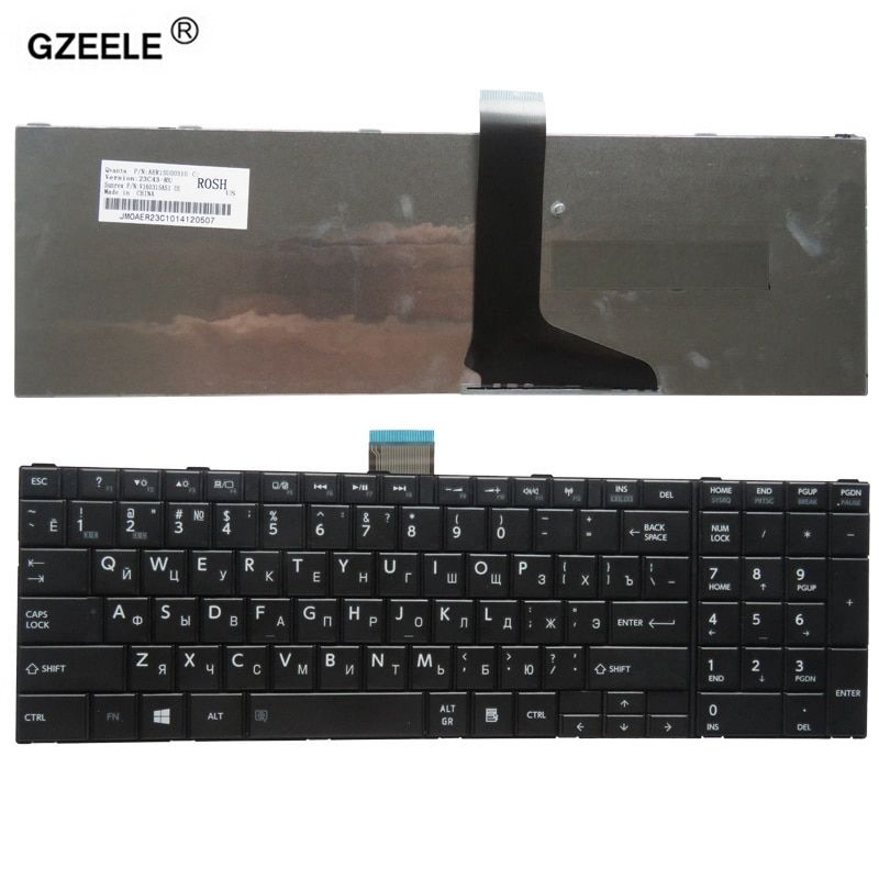GZEELE Laptop Keyboard for toshiba L850-T01R P850 S850 S855D C850 L850D L855 L855D L870 L950 L950D L955 L955D RU layout black