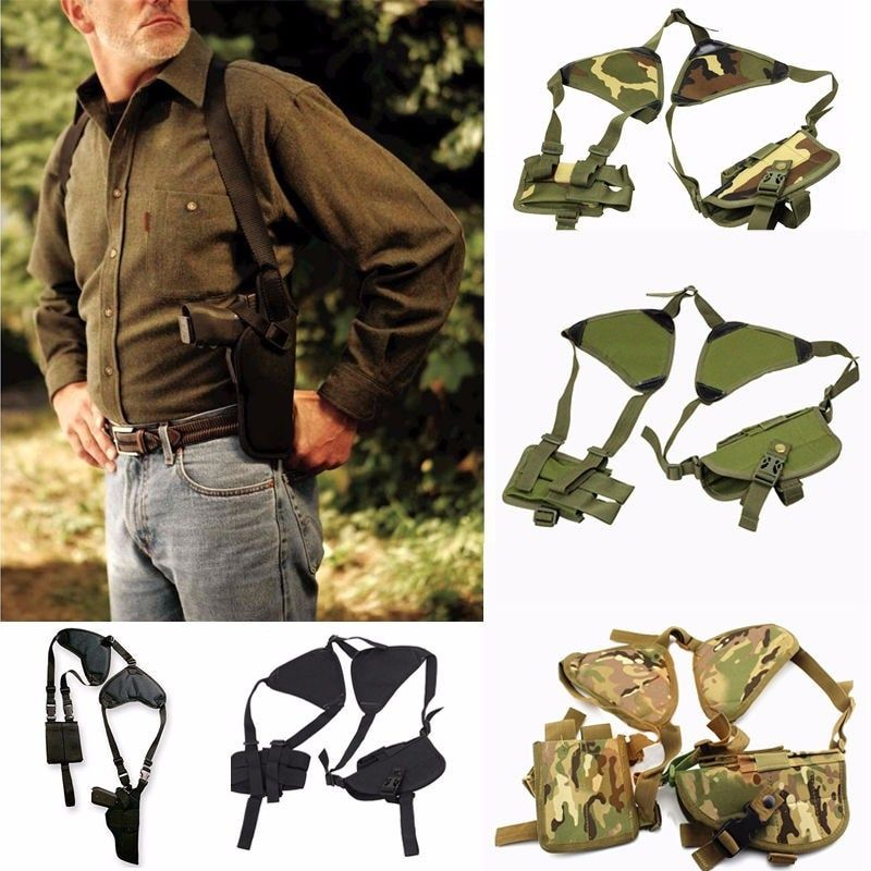 New Outdoor <font><b>Tactical</b></font> Police Security Universal Left Right Hand Pistol Pouch Shoulder Gun Holster for Glock 17 19 22 23 31 32