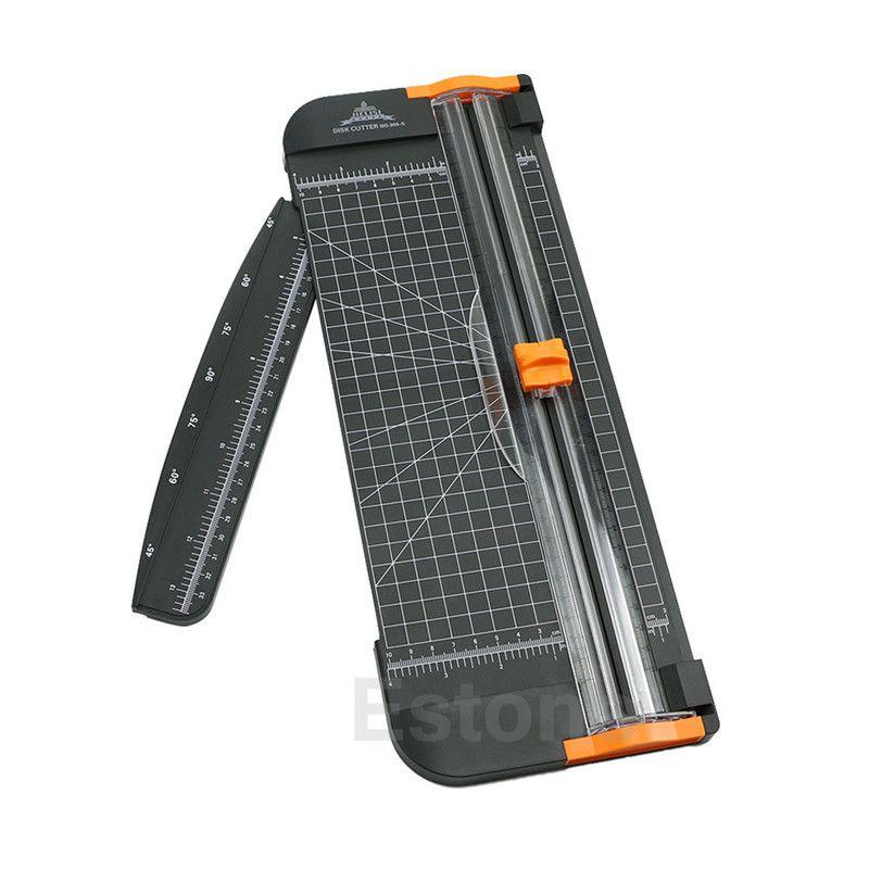 A4 Guillotine Herrscher Papier Standard Cutter Trimmer Cutter Aktenvernichter Schwarz-Orange Kunststoff