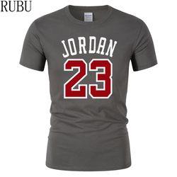 RUBU summer Hot Sale New Tee Jordan 23 Print Men Swag T-Shirt Top Quality Cotton Jordan 23 Hip Hop Short Sleeve T shirt Men