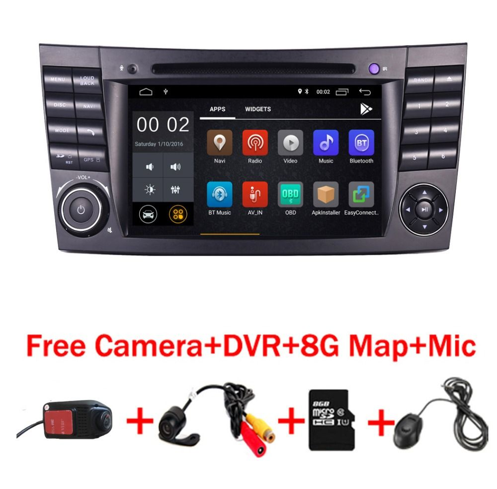 2018 neueste Android 8.1 IPS Touchscreen Auto DVD Player Für Mercedes Benz E-Klasse W211 E200 E220 E300 E350 quad Core Wifi Radio