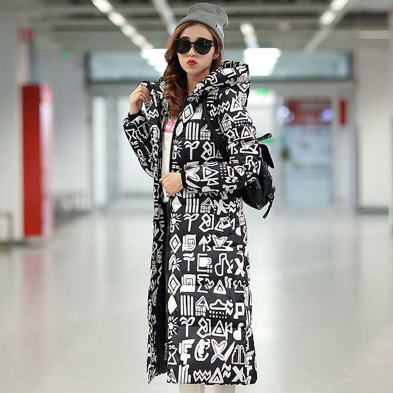 2017 freies Verschiffen Neue Herbst Winter Mantel Design Unten Gepolstert Baumwolle Plus Größe Dünne Jacke Mit Kapuze Reißverschluss Frauen Mode