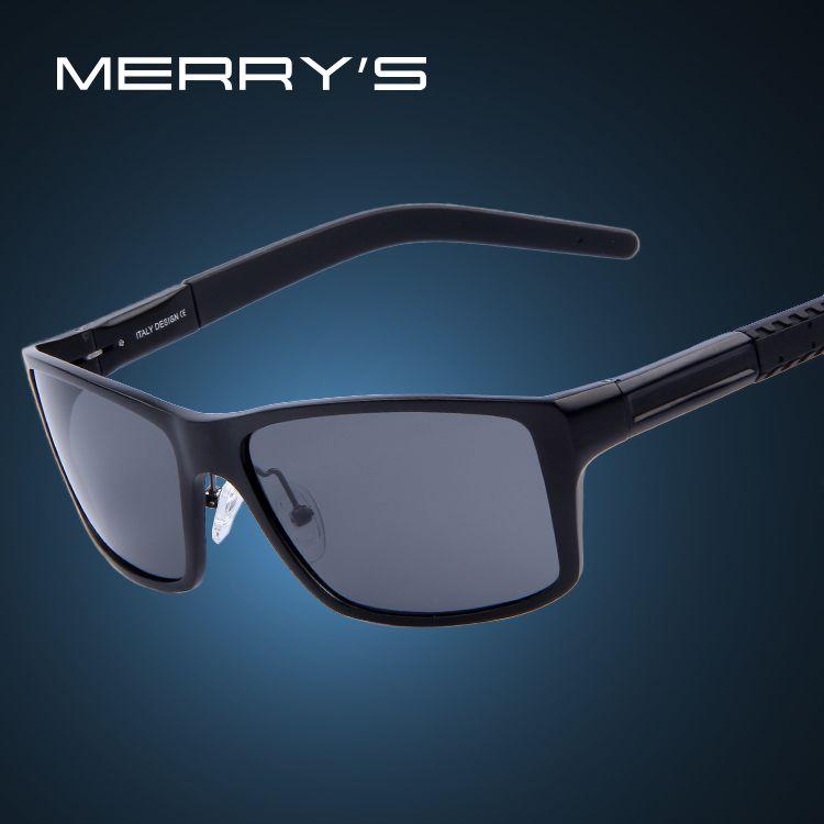 MERRY'S Hombres Aleación De Aluminio gafas de Sol Polarizadas