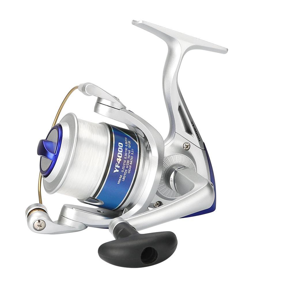 Haute Qualité Spinning Reel Fishing Avec Ligne De Pêche 12BB Volant Pour Frais/Le Sel De Mer Eau Spinning Reel pêche à la carpe