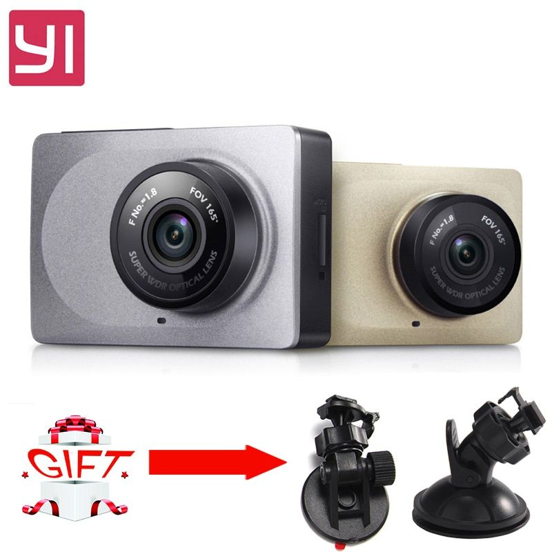 Yi Dash Camera DVR International Edition WiFi 165 Degree 1080P 60fps 2.7 Inch Camcorder for Android&IOS  Smart Car Dash Camera