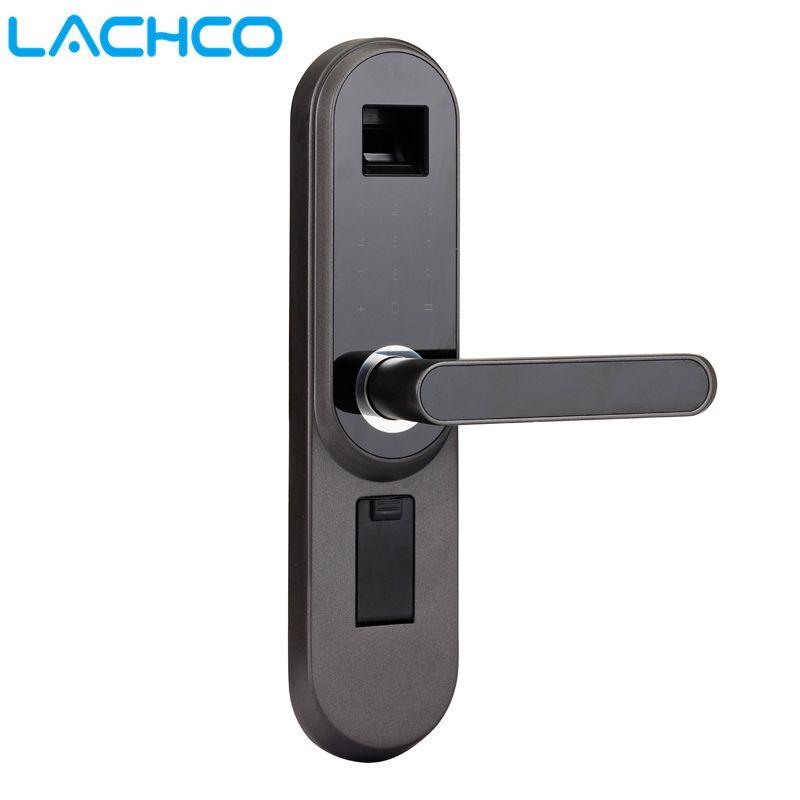 LACHCO Biométrique serrure électronique Intelligent D'empreintes Digitales, Code, Clé écran tactile de Passe De Verrouillage Numérique pour la maison bureau L17013MB