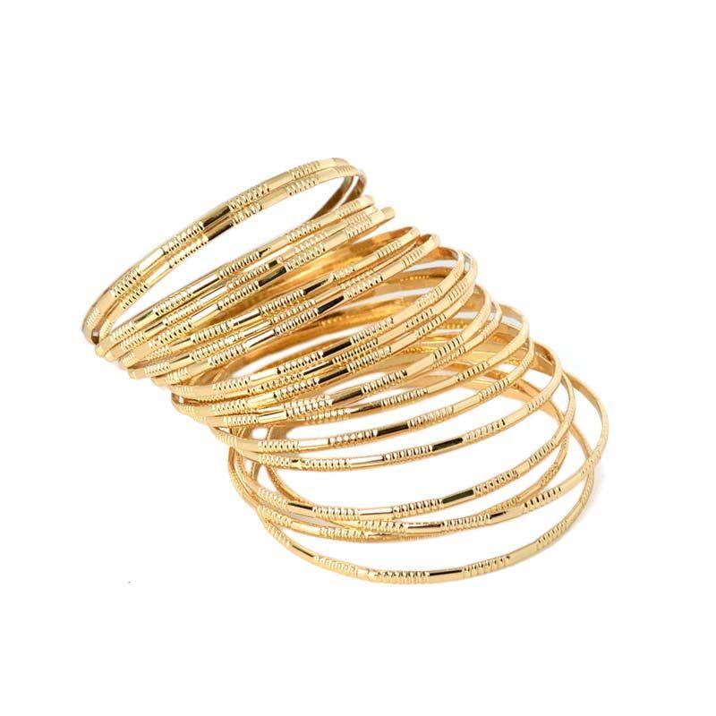 Neueste Ankunft Multilayer Gold-farbe Luxus Marke Armreif Frauen Bijoux Modeschmuck Charme Armbänder Armreifen Set Pulsera Oso