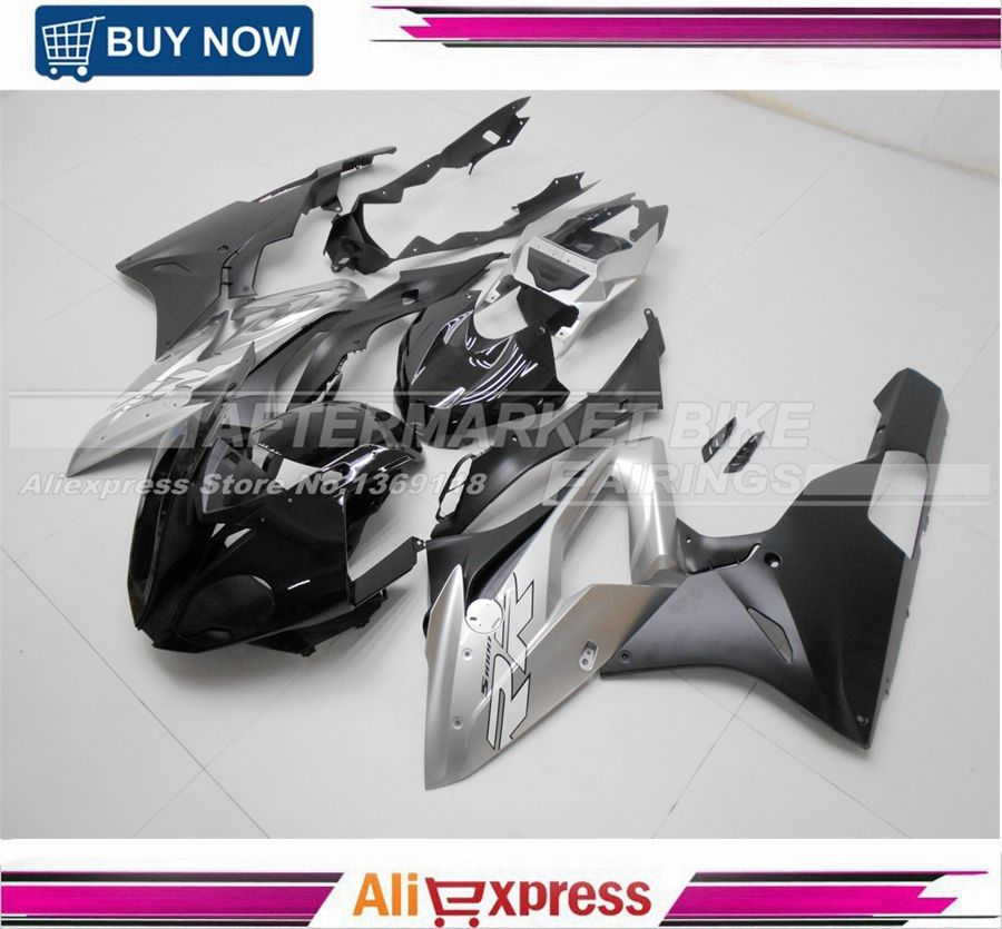 Gloss Black & Matte Silver Virgin ABS Plastic S1000RR 2015 2016 Fairing Bodywork For S1000RR 15 16 Motorcycle Fairings Kits