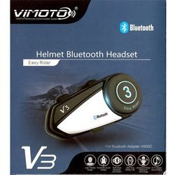 Vimoto English Version New Arrival Vimoto V3 Multi-functional GPS 2 Way Radio Bluetooth Motorcycle Helmet Bluetooth Headset