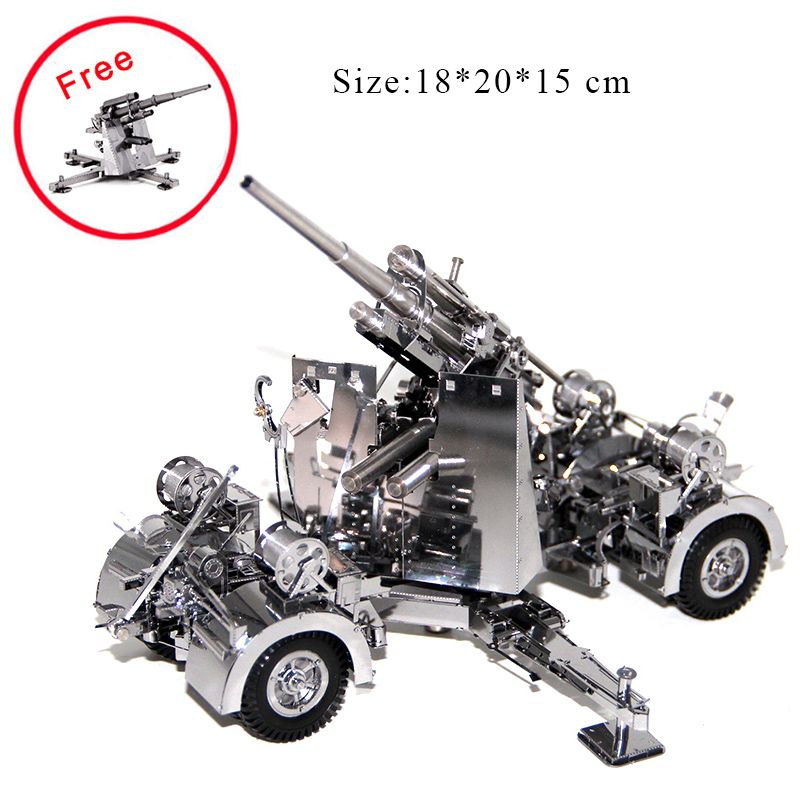 3D Metal Puzzles Model Germany 88 Air Defense Anti Tank Artillery Jigsaw Adult Child Educational Toys Collection Christmas Gifts