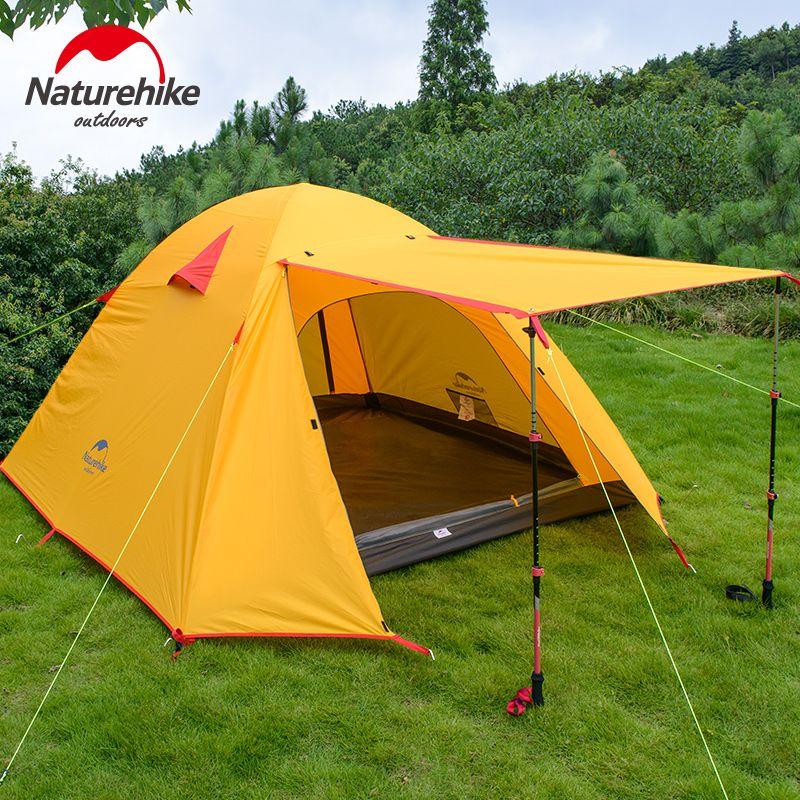Nature randonnée 3-4 personnes Camping tente Double couches aluminium tige 3 saison randonnée en plein air voyage jouer tente étanche à la pluie