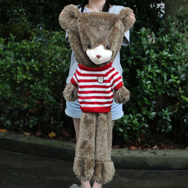 60 cm à 180 cm géant Hérissons ours peau jouet en peluche Ours en peluche bearskin en peluche tissu en peluche jouet avec chandail livraison gratuite