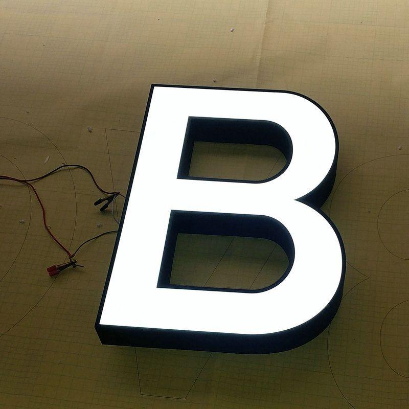 Außenwerbung acryl Zeichen mit edelstahl rahmen 3D Buchstaben angepasst