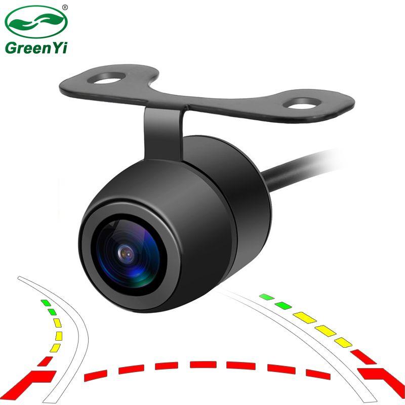 Car Intelligent Dynamic Trajectory Tracks Reversing Parking Camera Smallest HD Waterproof Vehicle Car Rear View Backup Camera