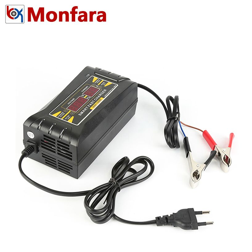 12V 6A Smart Fast Car Battery Charger 12 V Volt Lead-Acid GEL AGM Motor Motorcycle Batteries Power Charging LCD Display 5 6 A 5A