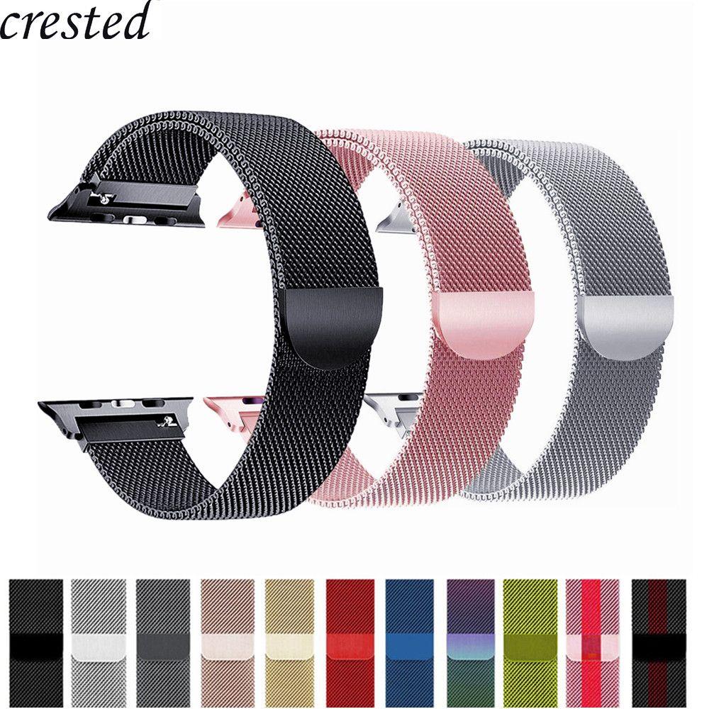 Bracelet milanais pour Apple Bracelet de montre 42mm/38mm iWatch 4 bande 44mm/40mm Bracelet & haute qualité milanaise boucle montre Apple 4/3/2/1