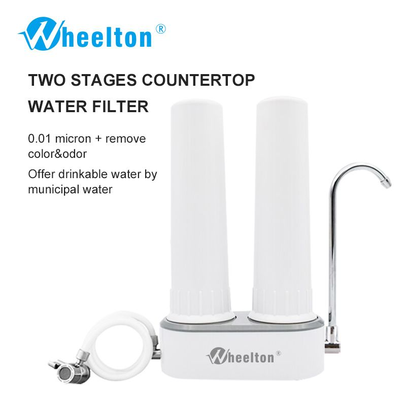 Wheelton Countertop Water filter Faucet(H-224) Ultrafiltration&Ceramic Decrease Contaminants&Virus&Bacteria Purifier For Kitchen