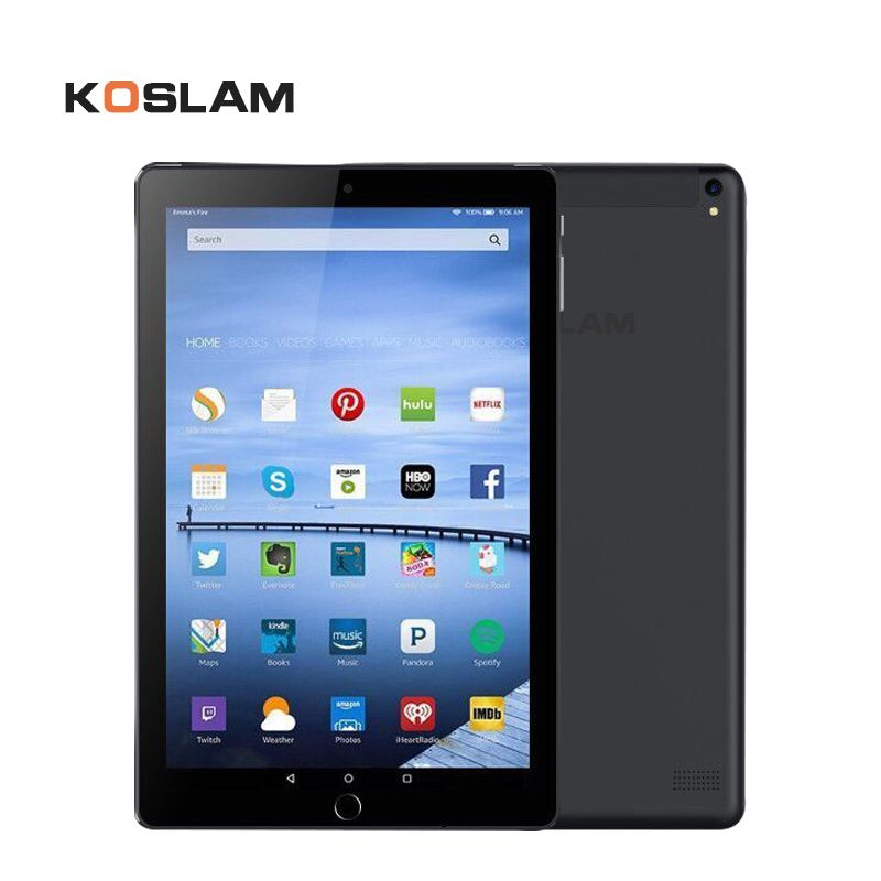 KOSLAM 10 Inch Android Tablets PC Pad MT6580 Quad Core 1G RAM 16GB ROM 1280*800 IPS Screen Dual SIM Card 3G Phone Call Phablet