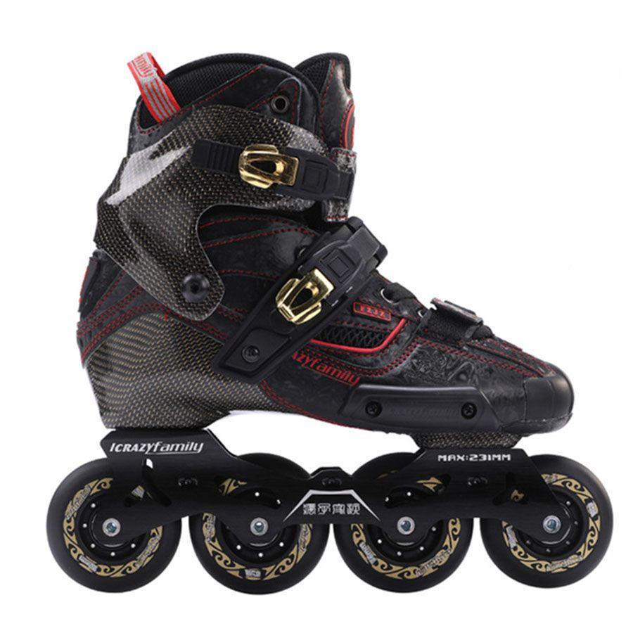 2019 verrückte Carbon Faser Berufs Slalom Inline Skates Erwachsene Roller Kostenloser Skating Schuhe Schiebe Patines Ähnliche Mit SEBA IGOR