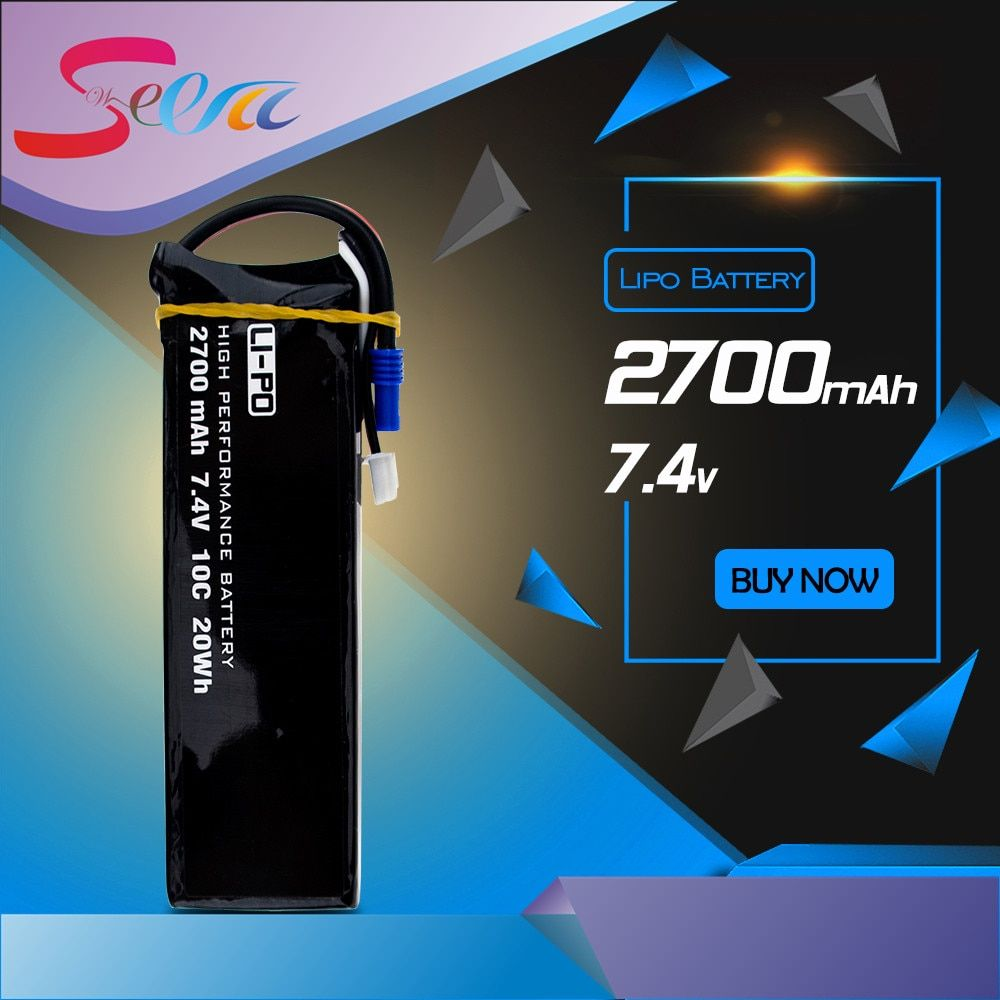 H501S lipo battery 7.4V 2700mAh 10C Batteies 1pcs or 2pcs for Hubsan H501C rc Quadcopter Airplane drone Spare Parts