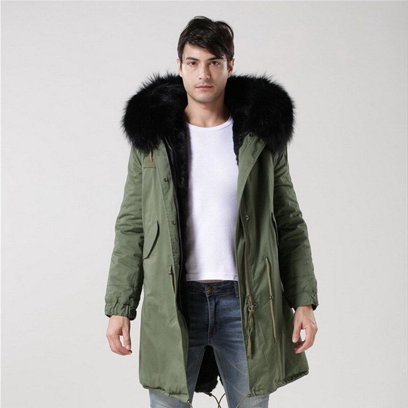 2016 New Arrival Fashion Men Winter Thick Fur Collar Faux Fur Padded Coat Jacket Men Parkas Hooded Coat Jacket S-4XL