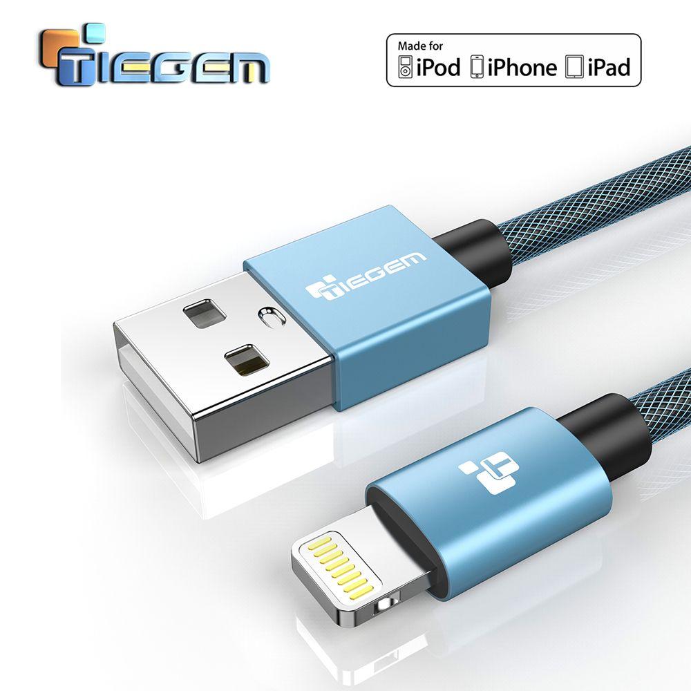 TIEGEM USB Chargeur Câble pour iPhone 6 7 MFi foudre Câble 2.5A iOS 9 10 Rapide Chargeur Câble de Données Pour iPhone 5S 5 iPad Air Mini