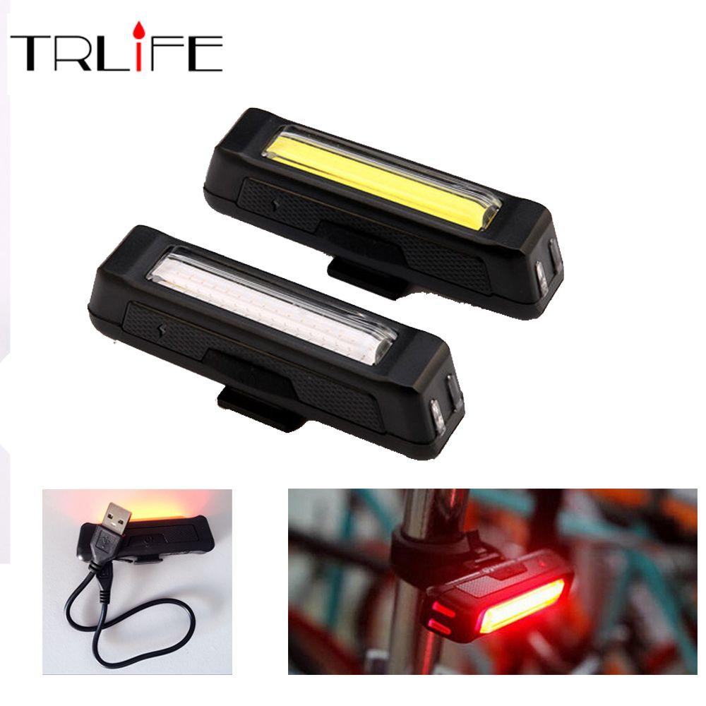 COB Wasserdicht Comet USB Wiederaufladbare Fahrrad Kopf Licht Hohe Helligkeit rote LED 100 lumen Vorne/Hinten Fahrrad Sicherheit Licht Pack