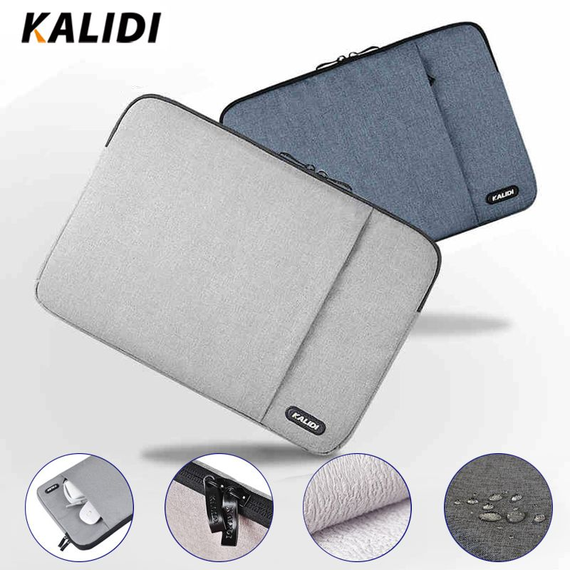 KALIDI Laptop Sleeve Bag Waterproof Notebook Case For <font><b>Macbook</b></font> Air 11 13 Pro 13 15 Dell Asus HP Acer Sleeve 13.3 14 15.6 Inch